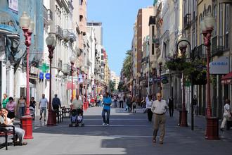 Центральная улица Лас-Пальмаса, остров Гран-Канария