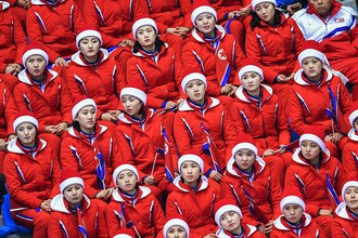 Болельщицы КНДР на Олимпийских играх