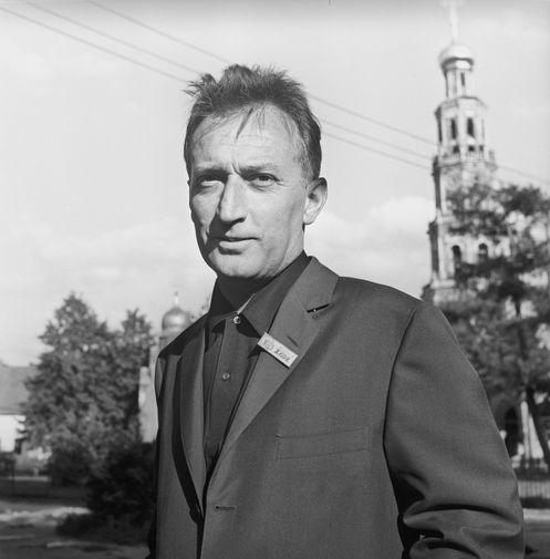 Итальянский писатель Джанни Родари- гость V Московского Международного кинофестиваля, 1967 года