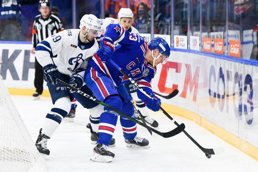 Фрагмент матча СКА — «Динамо»