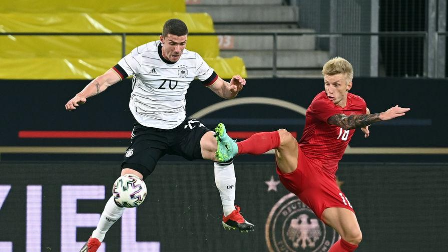Эпизод товарищеского матча Германия — Дания