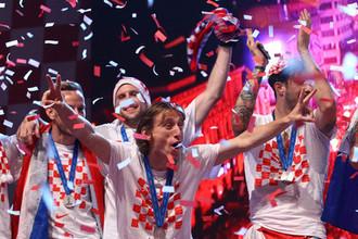 Чествование сборной Хорватии в Загребе