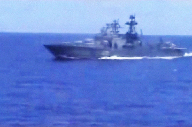 Кадр из видео ВМС США