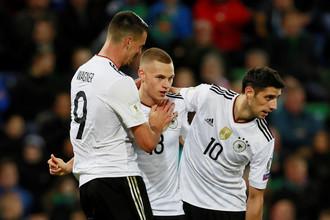 Сборная Германии встречается с Азербайджаном