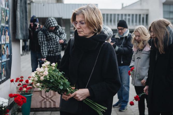 Памятные мероприятия около Театрального центра на Дубровке, 26 октября 2017 года
