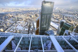 Каток на башне «Око» в Московском международном деловом центре «Москва-Сити»