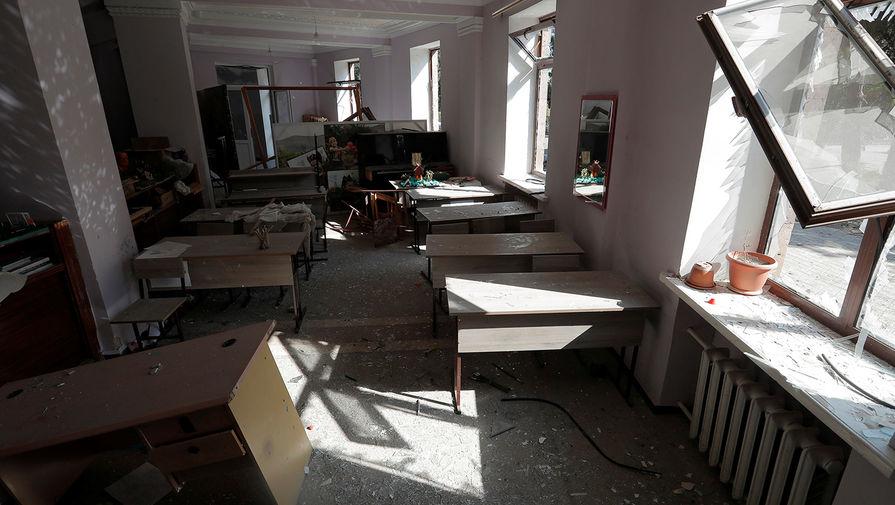 Художественная школа в Мартуни после обстрела, 14 октября 2020 года