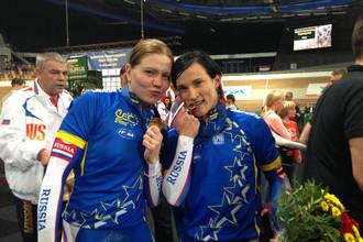 Елена Брежнива и Ольга Стрельцова — чемпионки Европы по велотреку