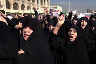 Протестующие в Иране, 30 декабря 2017