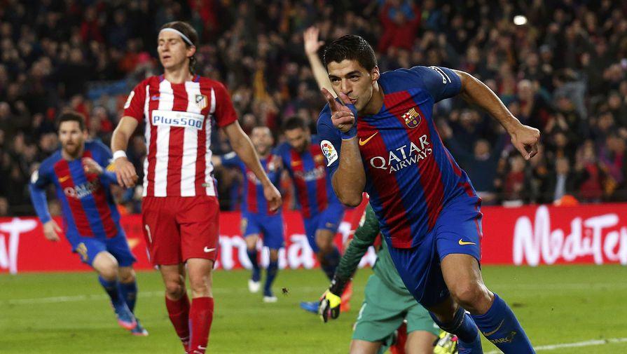 Луис Суарес открыл счет в матче Кубка Испании «Барселона» — «Атлетико»