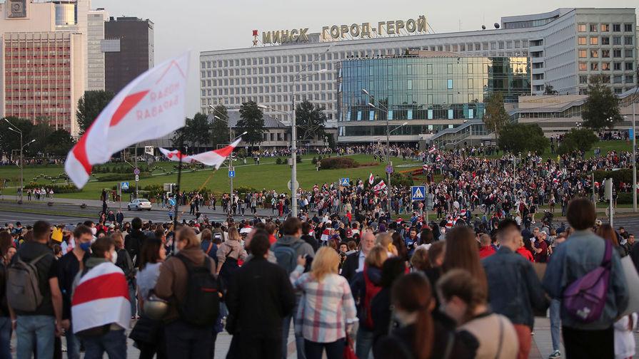Акция протеста в Минске после инаугурации Лукашенко на пост президента, 23 сентября 2020 года