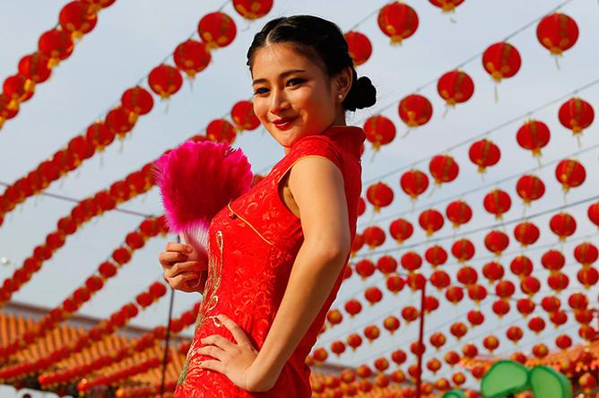 Празднование Нового года по лунному календарю в Бангкоке