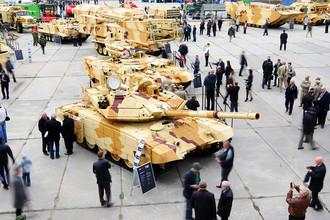Боевые машины огневой поддержки танков «Терминатор» на IX Международной выставке вооружения, военной техники и боеприпасов в Нижнем Тагиле, 2013 год
