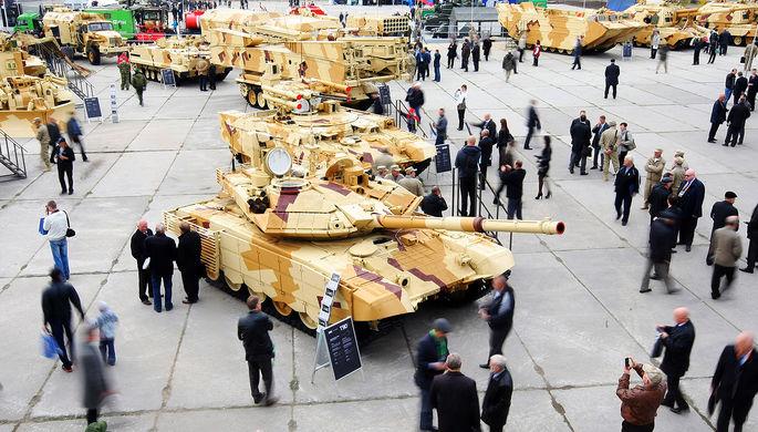 Боевые машины огневой поддержки танков «Терминатор» на IX Международной выставке...