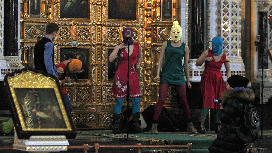 Акция Pussy Riot в храме Христа Спасителя, февраль 2012 года