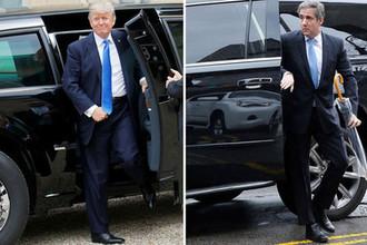 Президент США Дональд Трамп и его личный адвокат Майкл Коэн, коллаж «Газеты.Ru»