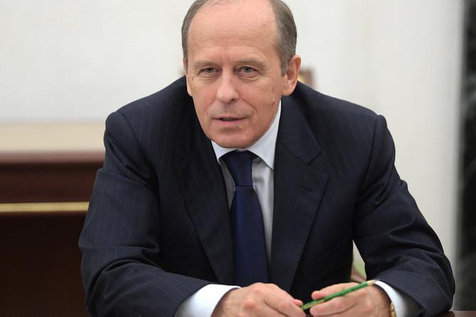 Директор ФСБ России Александр Бортников на совещании президента Владимира Путина с постоянными членами Совбеза, 29 сентября 2017 года