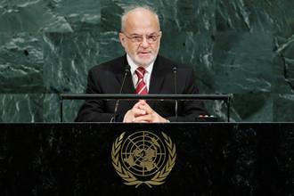 Министр иностранных дел Ирака Ибрахим аль-Джафари во время Генассамблеи ООН в Нью-Йорке, сентябрь 2017 года