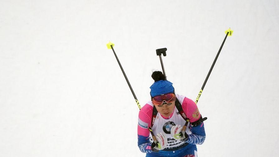 Российская биатлонистка Лариса Куклина.