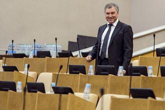Председатель Государственной думы России Вячеслав Володин