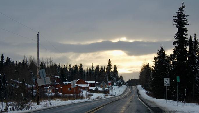 Дорога Анкоридж- Нинильчик на Аляске
