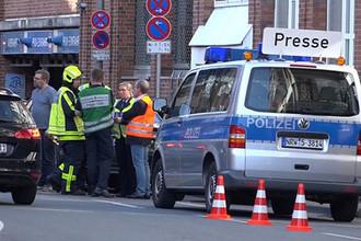 Полиция на месте происшествия в Мюнстере