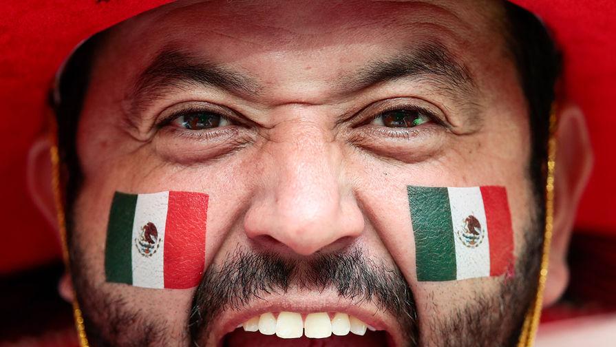 Болельщик сборной Мексики во время матча группового этапа между сборными Германии и Мексики на...