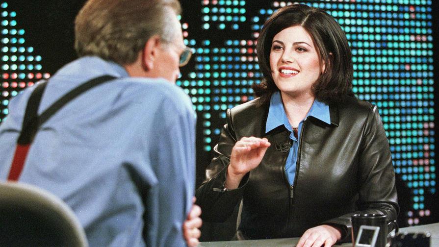 Моника Левински во время интервью у Ларри Кинга на CNN, 2000 год