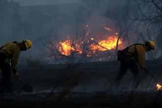 Пожарные в Ориндже, Калифорния, 9 октября 2017 года