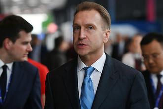 Заместитель председателя правительства РФ Игорь Шувалов на Санкт-Петербургском международном экономическом форуме – 2017