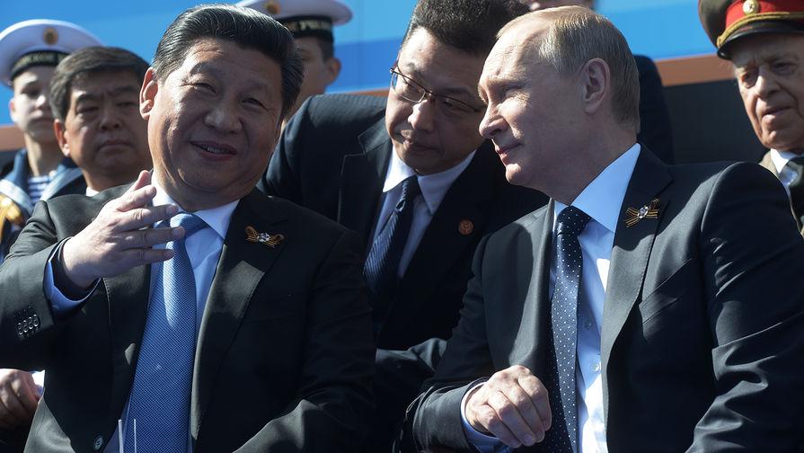 Президент Российской Федерации Владимир Путин и председатель Китайской Народной Республики Си...