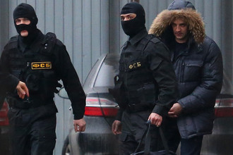 Помощник губернатора Сахалинской области Андрей Икрамов после допроса в СК РФ