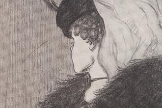 Фрагмент рисунка Уилльяма Э. Хилла «Моя жена и тёща», 1915 год
