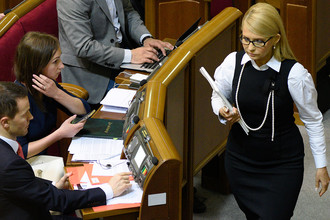 Глава фракции «Батькивщина» Юлия Тимошенко