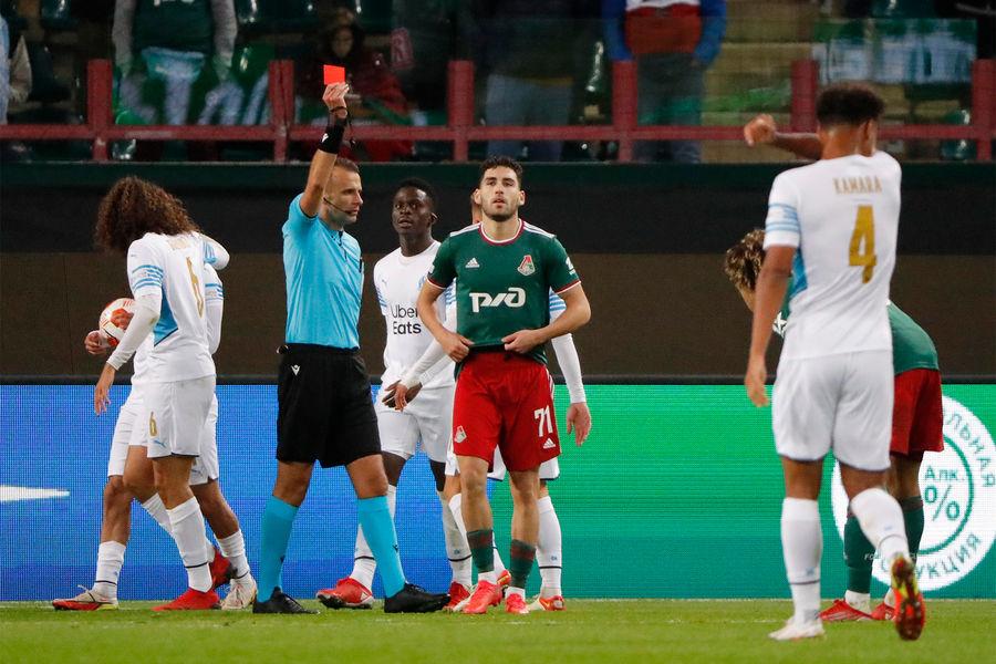 Во время матча 1-го тура группового этапа Лиги Европы УЕФА сезона 2021/2022 междуФК «Локомотив» и ФК «Марсель», 16 сентября 2021 года