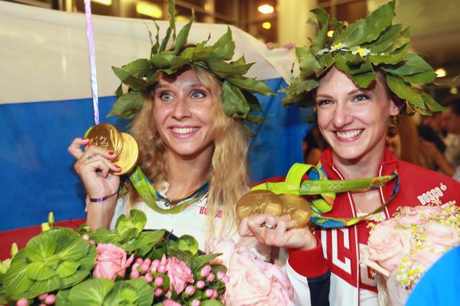 Пятикратные олимпийские чемпионки по синхронному плаванию Светлана Ромашина и Наталья Ищенко