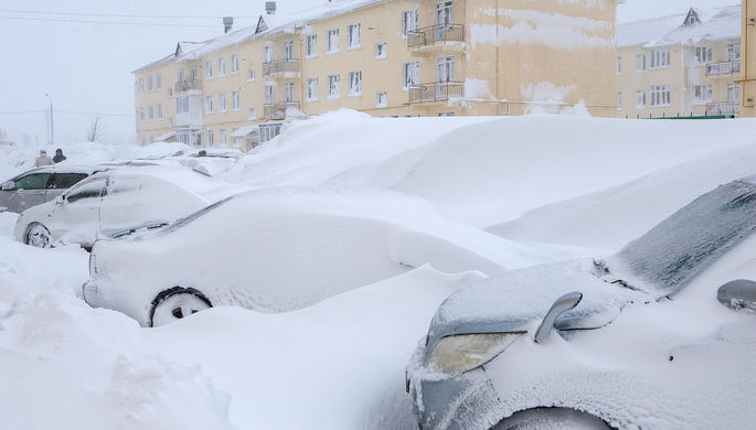 Последствия снегопада в Южно-Сахалинске, 10 января 2018 года