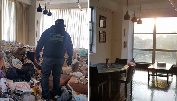 Тайком от соседей: что вывозят из захламленных квартир Манхэттена