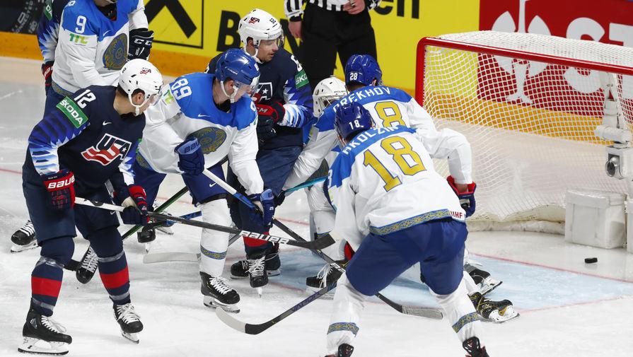Эпизод матча Казахстан- США