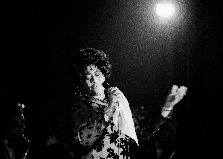 Элла Фицджеральд на концерте, 1971 год