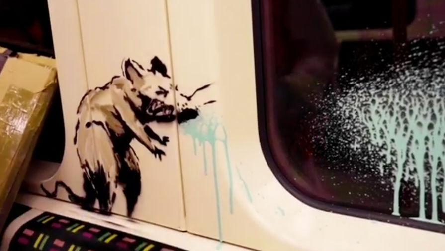 Посвященное коронавирусу граффити Бэнкси удалили в Лондоне