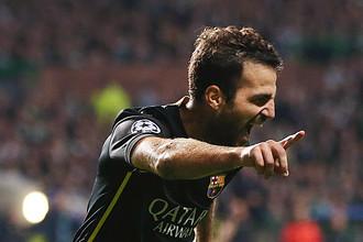Франсеск Фабрегас — автор победного гола «Барселоны» в ворота «Селтика»