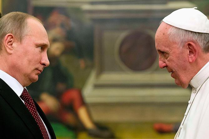 Папа Римский Франциск I встретился в Ватикане с Владимиром Путиным