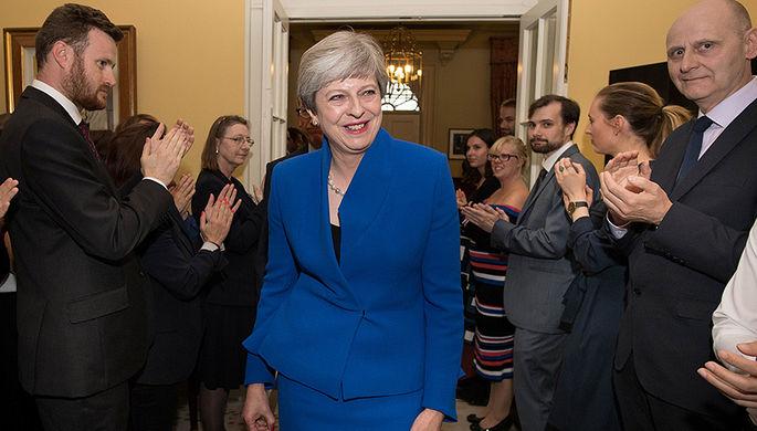 Тереза Мэй в Лондоне, 9 июня 2017 года