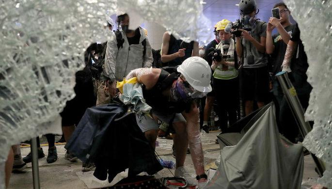 Массовые протесты против закона об экстрадиции в Гонконге, 1 июля 2019 года