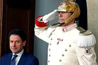 Премьер-министр Италии Джузеппе Конте после встречи с президентом Серджо Маттареллой в Риме, 29 августа 2019 года