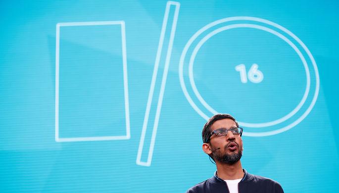 Генеральный директор Google Сундар Пичай на конференции Google I/O 2016