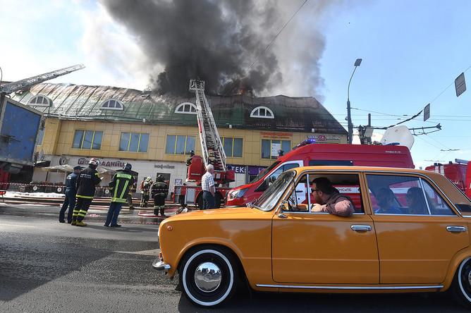 Пожар в торговом центре «Атом» на Таганской площади в Москве, 9 августа 2017 года