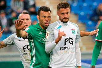 Нападающий «Тосно» Евгений Марков забил победный мяч