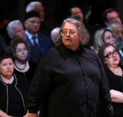 Певец Александр Градский на церемонии прощания с поэтом Андреем Дементьевым, 29 июня 2018 года